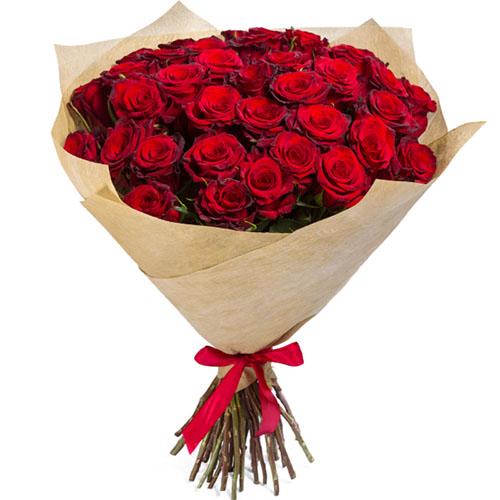 букет на заказ 35 красных роз фото