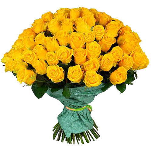 фото букета 101 желтая роза