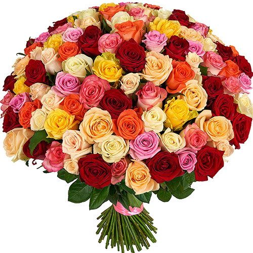101 роза микс фото букета