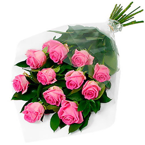 """букет 11 розовых роз """"Аква"""""""