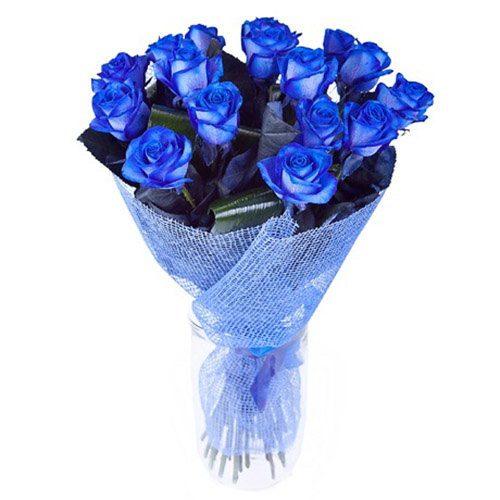 17 синих роз букет