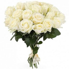 букет 21 белая роза