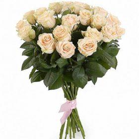 букет фото 21 кремовая роза