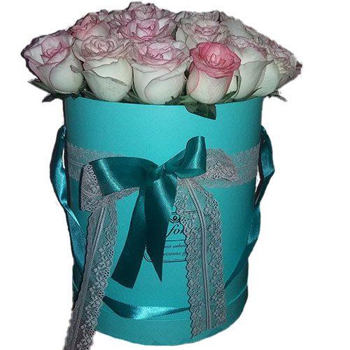 ajnj 21 элитная розовая роза в фирменной упаковке