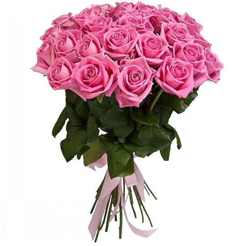 """25 розовых роз """"Аква"""" фото"""