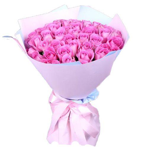 """букет 35 розовых роз """"Аква"""""""
