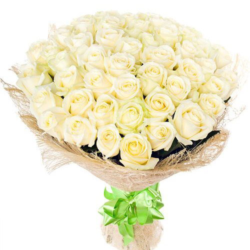 букет 51 белая роза фото
