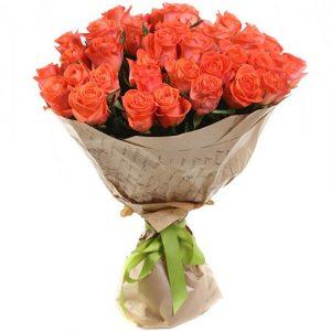 """букет 51 оранжевая роза """"Вау"""""""