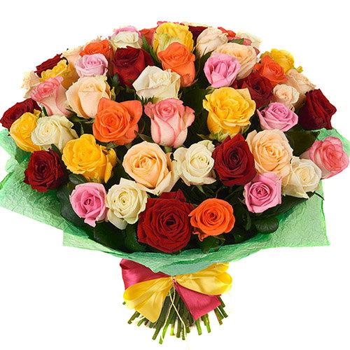 букет 51 роза микс фото