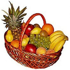 фото Большая корзина фруктов