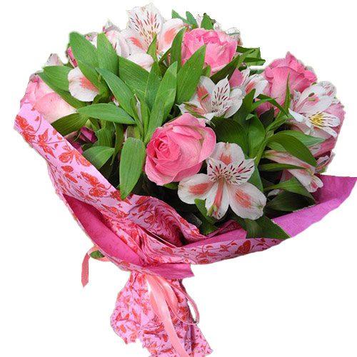 букет Розовый цвет микс цветов