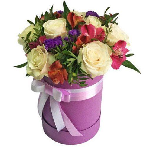 """Шляпная коробочка """"Блюз"""" микс цветов"""