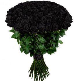 букет 101 чёрная роза