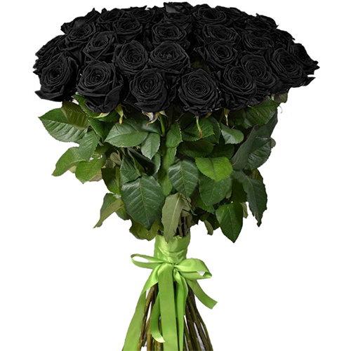 букет 25 чёрных роз
