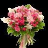 """Букет """"Ностальгия"""" микс цветов в розовых тонах"""