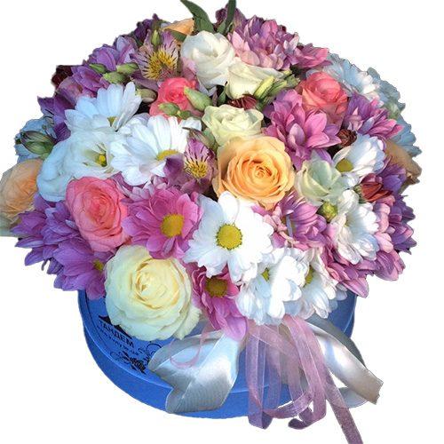 """Шляпная коробка """"Ангелочек"""" микс цветов"""
