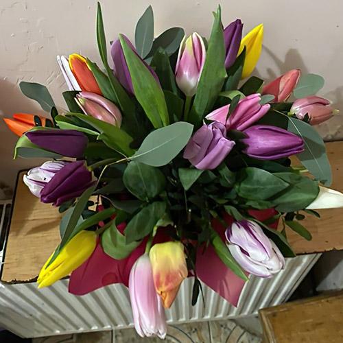 Букет тюльпанов разных цветов