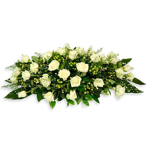 Фото товара Икебана из белых роз