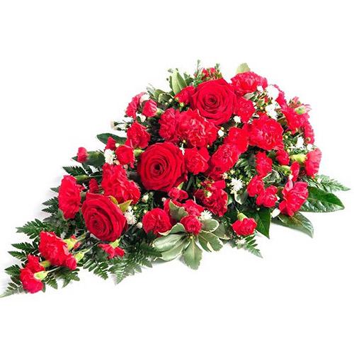 Фото товара Икебана из роз и гвоздик